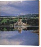 Doe Castle Near Creeslough In County Wood Print