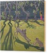 Dog And Monkey Wood Print