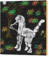 Dog Wood Print