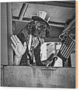 Dog On The Campaign Trail Wood Print