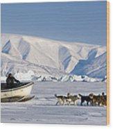 Dog Sled, Qaanaaq, Greenland Wood Print
