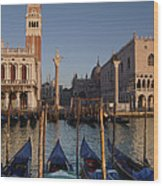 Doges Palace And San Marcos Bell Tower Wood Print