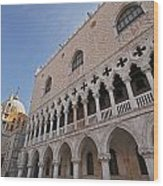 Doges Palace Off Piazza San Marco Or Wood Print