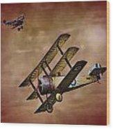 Dogfight 1918 Wood Print