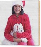 Doggie Christmas Wood Print by Vijay Sharon Govender