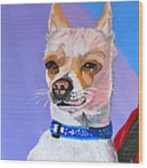 Doggie Know It All Wood Print