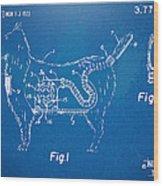 Doggie Vacuum Patent Artwork Wood Print