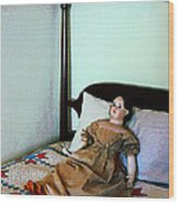 Doll On Four Poster Bed Wood Print