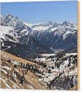 Dolomite's landscape Wood Print