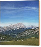 Dolomiti's Panoramic Wood Print