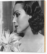 Dolores Del Rio, Portrait Ca. 1934 Wood Print by Everett