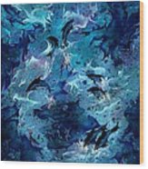 Dolphin Enchantment Wood Print