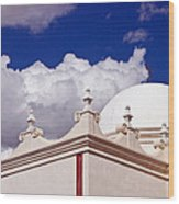 Dome Of The Mission San Xavier Wood Print