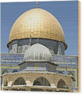 Dome Of The Rock Was Erected Wood Print