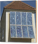 Domestic Solar Panel Wood Print
