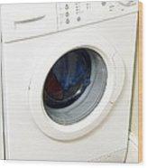 Domestic Washing Machine Wood Print