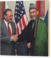 Donald H. Rumsfeld U.s. Sec. Of Defense Wood Print