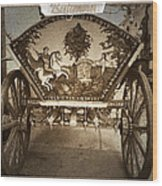 Donkey Cart Wood Print by Cliff Norton