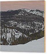 Donner Panoramic Wood Print