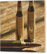 Don't Bite The Bullet Wood Print