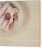 Donut With Jelly Wood Print