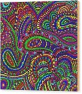 Doodle 3 Wood Print