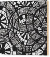 Doodle Circular  Wood Print