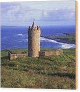 Doonagore Castle, Co Clare, Ireland Wood Print