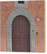 Door A1 Wood Print