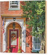Door In Historic District I Wood Print