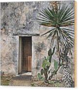 Door In Spanish Mission Building Wood Print