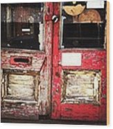 Door Wood Print by Katie Cupcakes