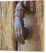 Door Knocker Wood Print