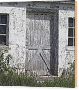Door To Barn Wood Print