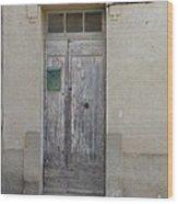 Door With Green Mailbox Wood Print
