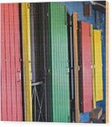 Doors Of Colors Wood Print