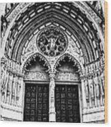 Doors To Saint John The Divine Wood Print