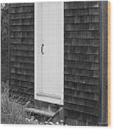 Doorway By The Sea Cape Cod National Seashore Wood Print by Michelle Wiarda