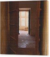 Doorway Wood Print by Jen Bodendorfer