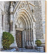 Doorway Sacred Heart Cathedral Wood Print