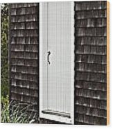 Doorway With Daisies Wood Print by Michelle Wiarda
