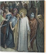 Dor�: Betrayal Of Christ Wood Print