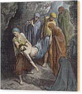 Burial Of Jesus Wood Print