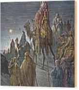 Dor�: Journey Of The Magi Wood Print