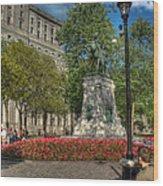 Dorchester Square Boer War Memorial Wood Print