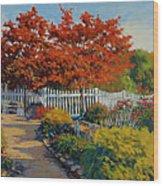 Dotti's Garden Autumn Wood Print