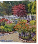 Dotti's Garden Summer Wood Print