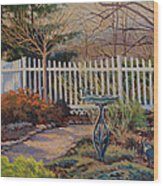 Dotti's Garden Winter Wood Print