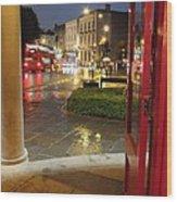 Double Decker Blur II Wood Print by Anna Villarreal Garbis
