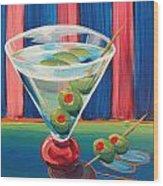 Double Dirty Martini Wood Print